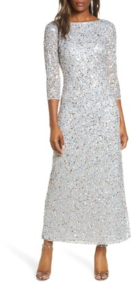 Pisarro Nights Sequin Mesh Gown