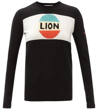Bella Freud Lion-intarsia Wool Sweater - Black