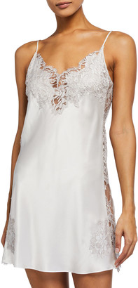 Christine Lingerie Side Lace Silk Chemise