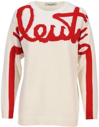 Valentino Logo Jacquard Sweater
