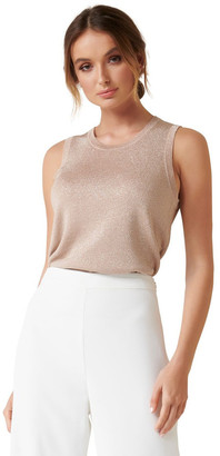 Forever New Milly Metallic Knit Tank