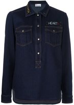 RED Valentino embroidered denim shirt