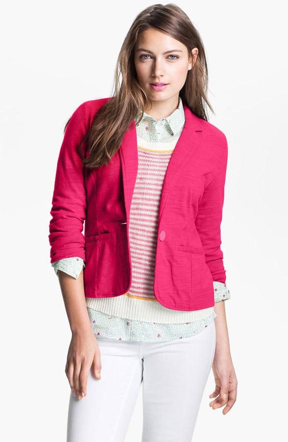 Caslon Roll Sleeve Knit Blazer