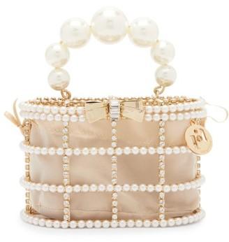 Rosantica Holli Loulou Faux-pearl & Crystal Clutch Bag - Beige Multi