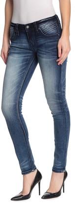 Rock Revival Dobbie Mid Rise Moto Skinny Jeans