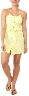 Miken Juniors' Tie-Waist Button-Front Cover-Up Dress, Created for Macy's Women's Swimsuit