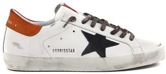 Golden Goose White Superstar Vintage Leather Sneaker