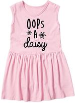 Light Pink 'Oops a Daisy' Sleeveless Dress - Toddler & Girls