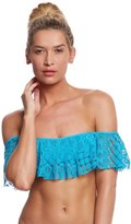 Kenneth Cole Rainbow Connection Off Shoulder Bandeau Bikini Top 8158769