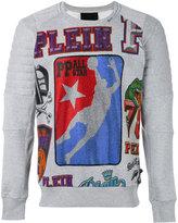 Philipp Plein logo print jumper - men - Cotton - M