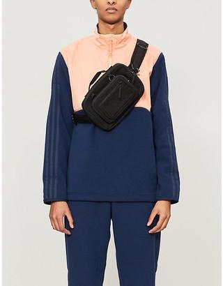 adidas Funnel-neck shell and fleece jacket