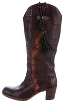 Henry Beguelin Distressed Mid-Calf Boots