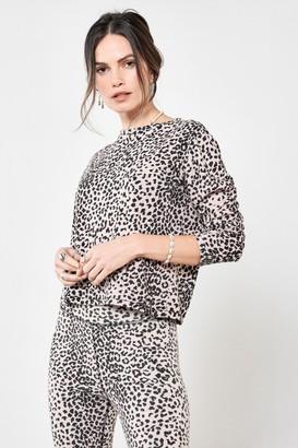 Ragdoll LA LONG SLEEVE TEE Pink Leopard