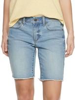 Sonoma Goods For Life Women's SONOMA Goods for Life 5-Pocket Raw Hem Denim Bermuda Shorts
