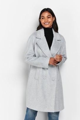 Wallis Grey Double Breasted Coat