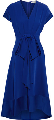 Sachin + Babi Laura Satin-trimmed Bow-embellished Twill Dress