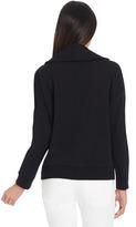 Jones New York Long Sleeve Funnel Neck Cotton Pullover