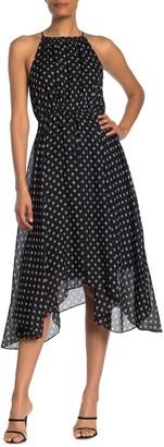 Joie Matalina Printed Asymmetrical Silk Dress