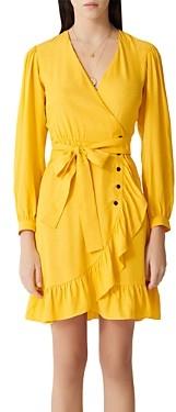 Maje Roseya Ruffled Wrap Dress