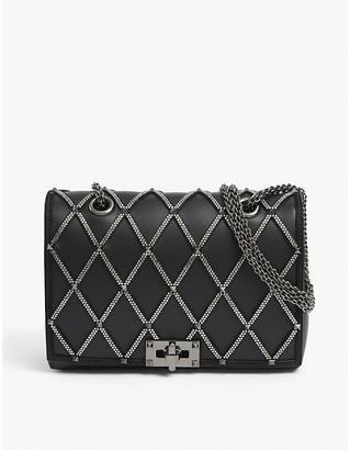 Valentino Crystal-embellished leather shoulder strap