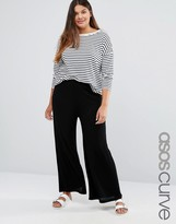 Asos Wide Leg Pant In Texture
