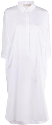 Gentry Portofino Knit Panel Shirt Dress