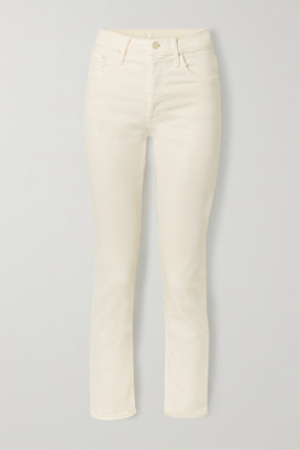 Mother The Tomcat Ankle High-rise Straight-leg Jeans - Cream