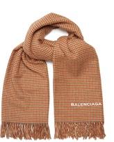Balenciaga Hound's-tooth blanket scarf