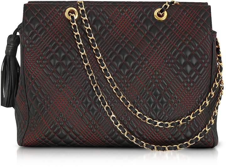 Fontanelli Black Quilted Leather Shoulder Bag