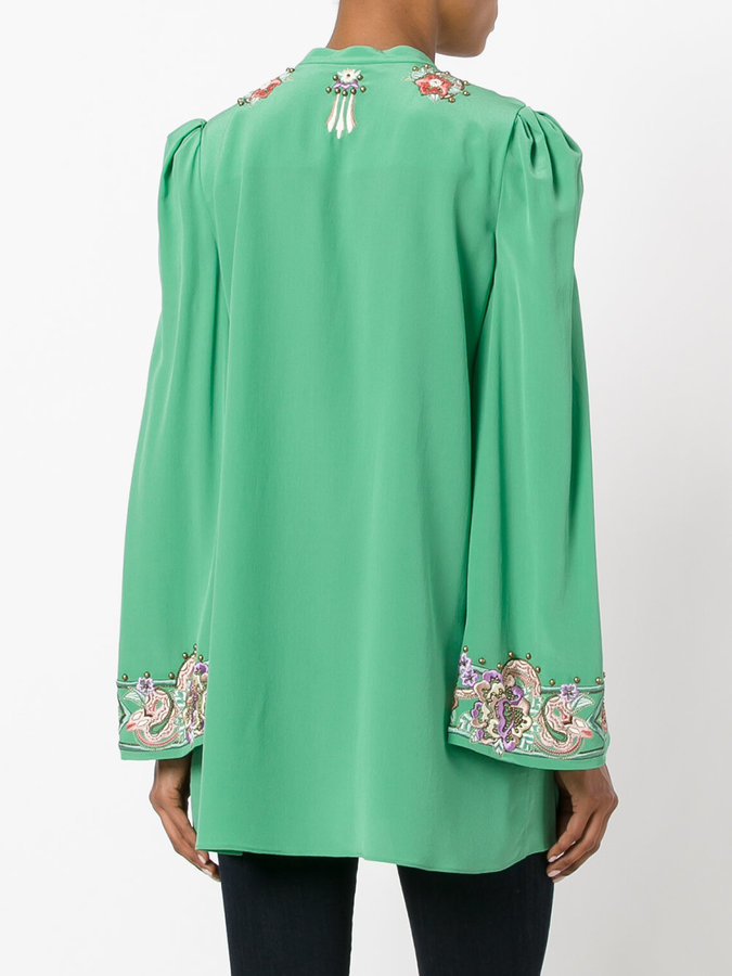 Roberto Cavalli embroidered blouse