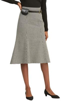 Polo Ralph Lauren Houndstooth Wool-Blend Skirt