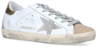 Golden Goose Crystal-Embellished Superstar Sneakers