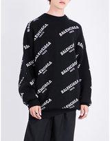 Balenciaga Logo Wool-blend Jumper