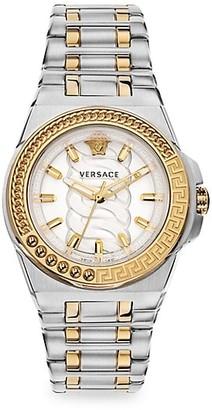 Versace Chain Reaction Two-Tone Bracelet Watch