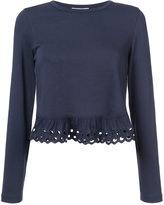 See by Chloe cut out ruffle top
