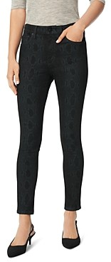 Joe's Jeans The Icon Skinny Ankle Jeans in Black Snake