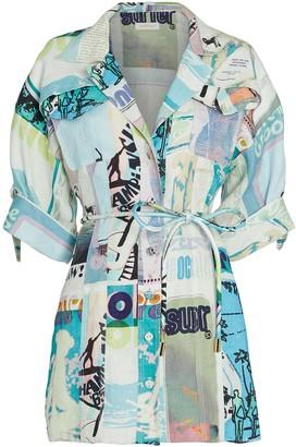 Zimmermann Glassy Safari Linen Shirt Dress