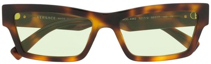 Versace Eyewear Rectangular Frame Glasses