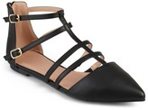 Journee Collection Women's Dorsy Strappy Pointed Toe Flats