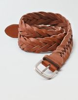 American Eagle Outfitters AE Braided Leather Belt