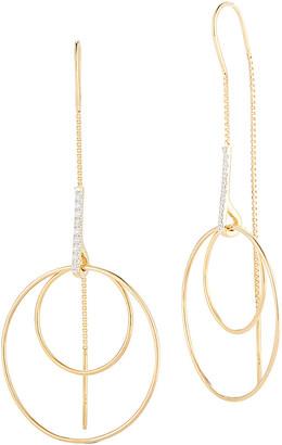 I. Reiss 14K 0.14 Ct. Tw. Diamond Thread Earrings