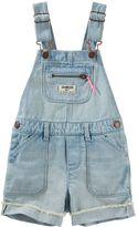 Osh Kosh Toddler Girl Cuffed Denim Shortalls