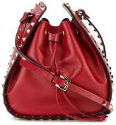 Valentino Red Rockstud leather bucket bag