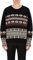 Maison Margiela Men's Reverse Fair Isle Crewneck Sweater