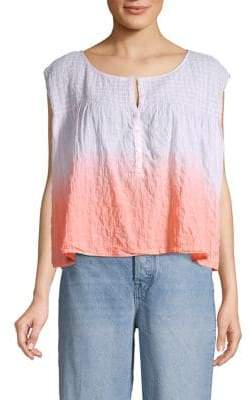 Free People Little Bit of Something Tie-Dye Smocked Top
