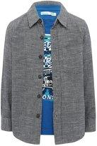 M&Co Textured shirt and slogan top set
