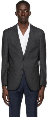 HUGO BOSS Grey Wool Novan6 Blazer