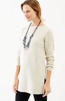 J. Jill Textured Boat-Neck Sweater Tunic