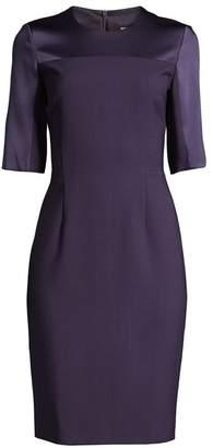 BOSS Danufa Super Stretch Virgin Wool Sheath Dress