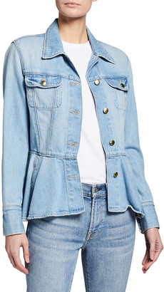 Frame Button-Front Flounce Jacket